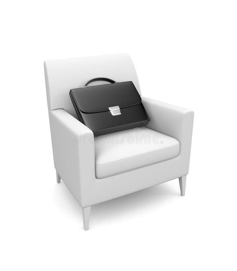 Cadeira com pasta ilustração do vetor