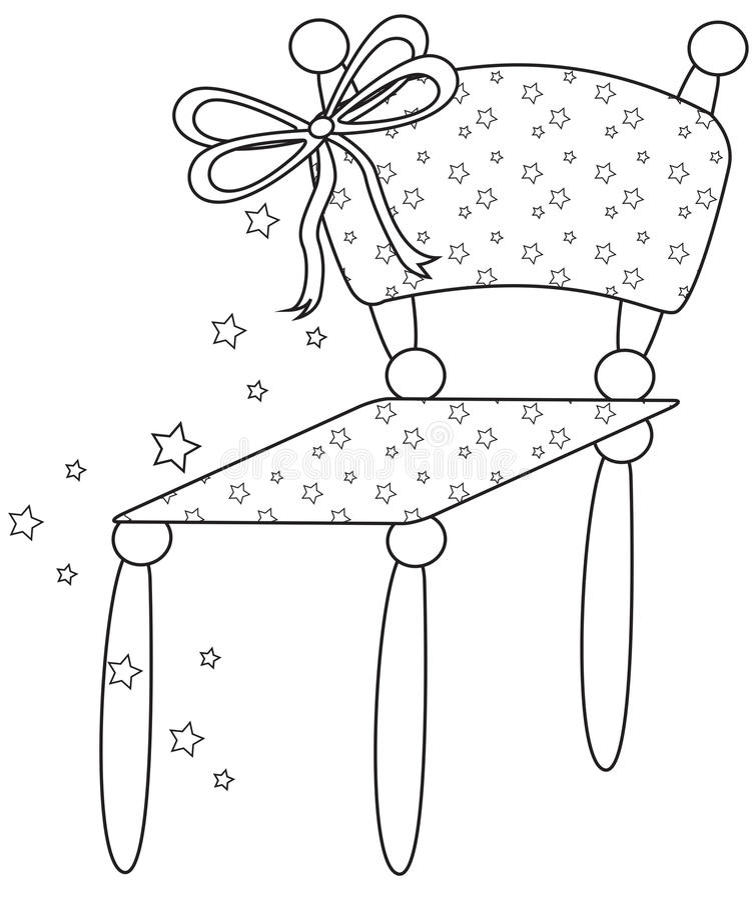 Cadeira da estrela ilustração stock