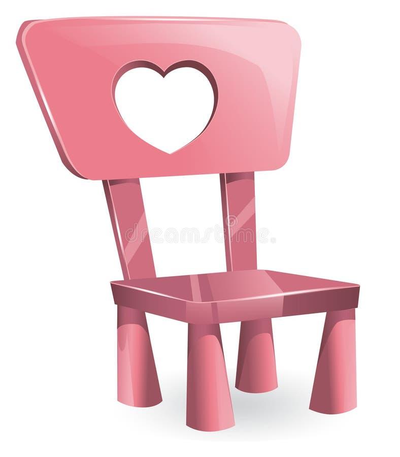 Download A Cadeira Das Crianças Cor-de-rosa Ilustração do Vetor - Ilustração de projeto, de: 29841434