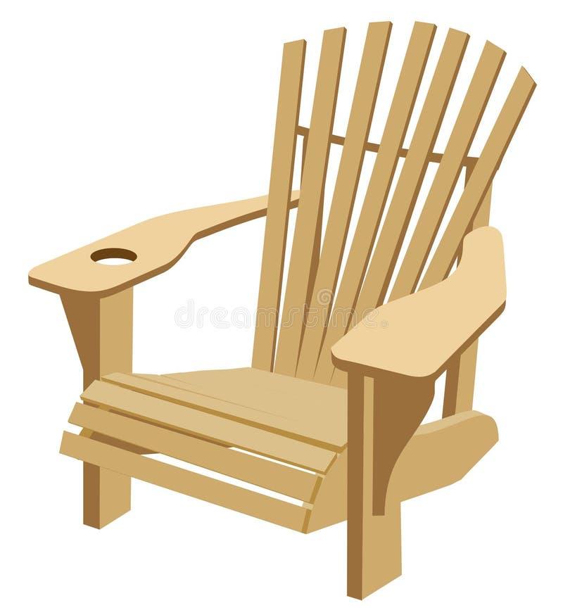 Cadeira de Adirondack Muskoka ilustração stock