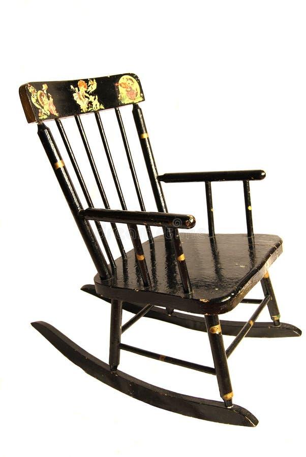 Cadeira de balanço da criança antiga imagens de stock