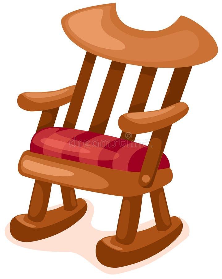 Cadeira de balanço de madeira ilustração do vetor