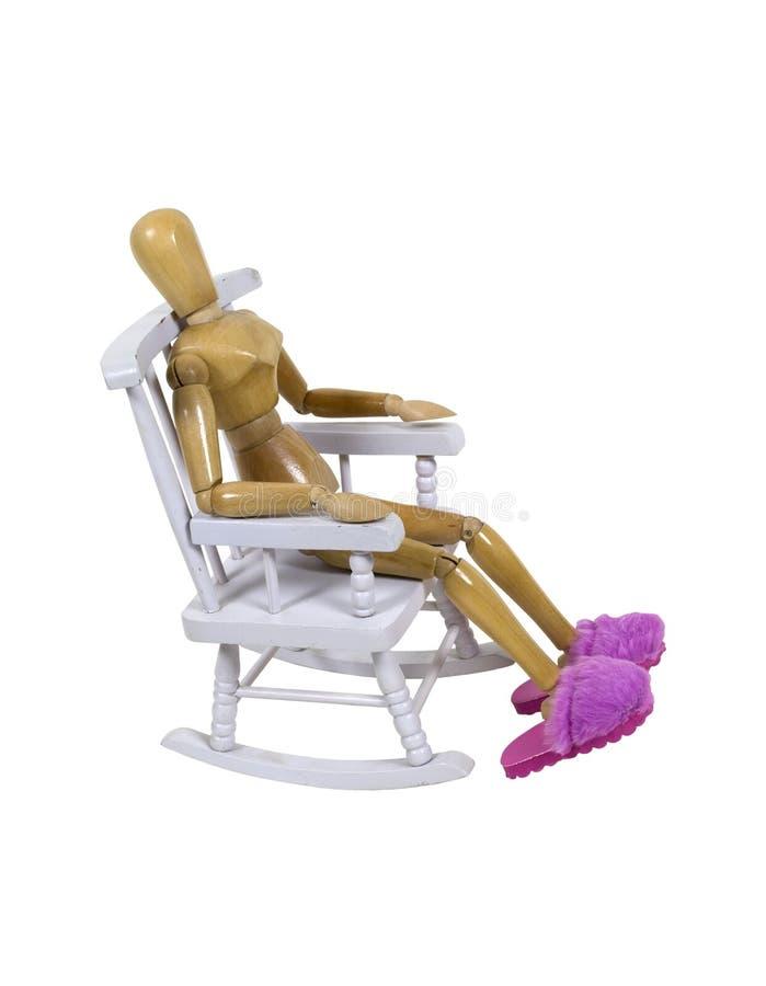 Cadeira de balanço e deslizadores cor-de-rosa distorcido imagens de stock royalty free