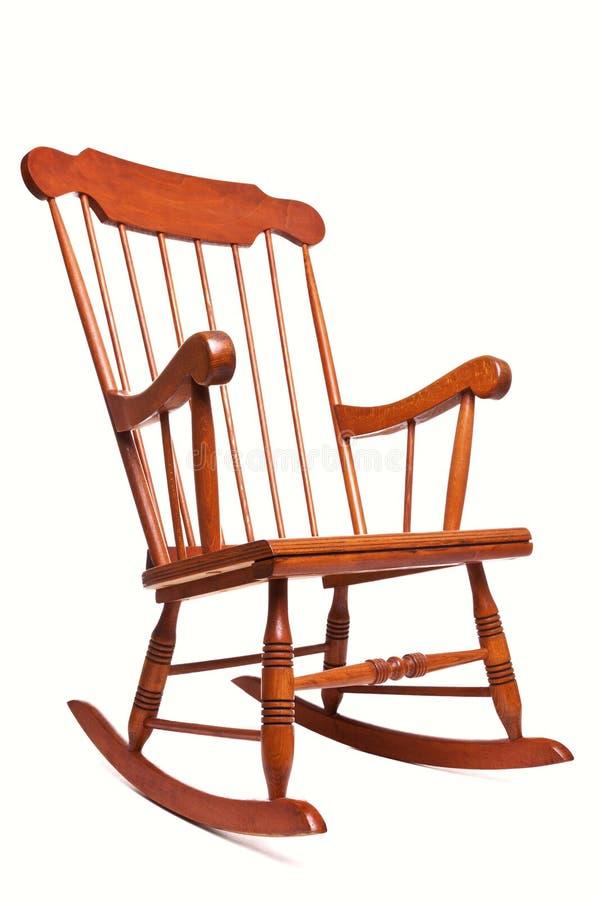 Cadeira de balanço isolada em um fundo branco imagem de stock
