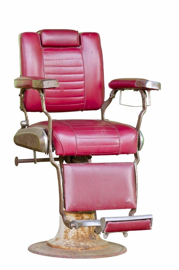Cadeira de barbeiro velha fotos de stock royalty free