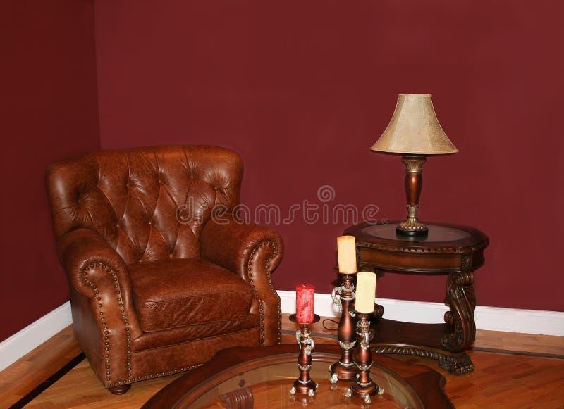 Cadeira de couro imagem de stock