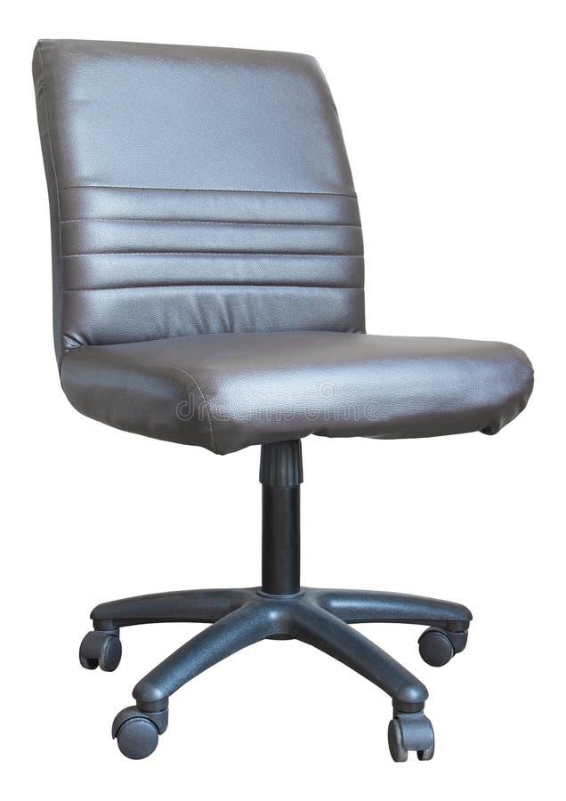 Cadeira de couro do escritório isolada no branco imagem de stock royalty free
