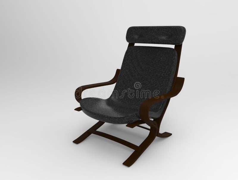 Cadeira de couro no fundo foto de stock
