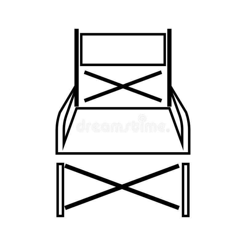 Cadeira de dobradura é ícone preto ilustração royalty free