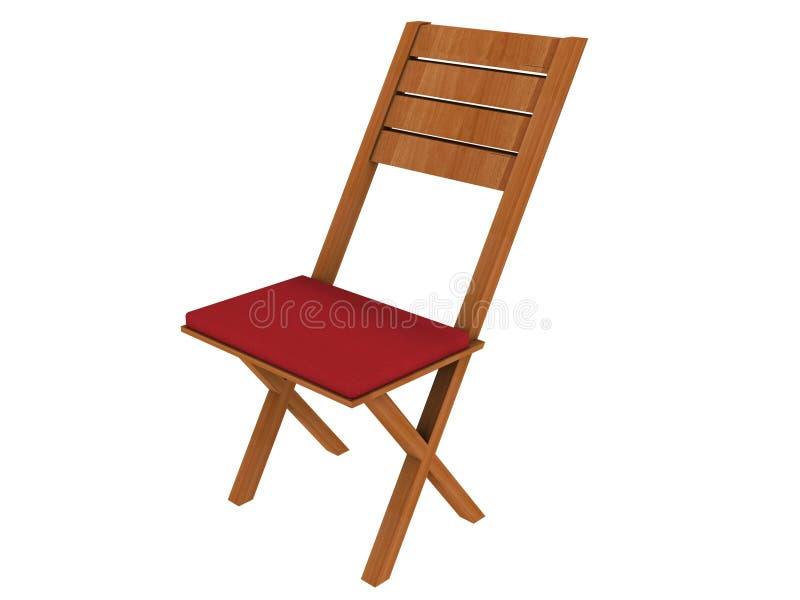 Cadeira de dobradura ilustração stock