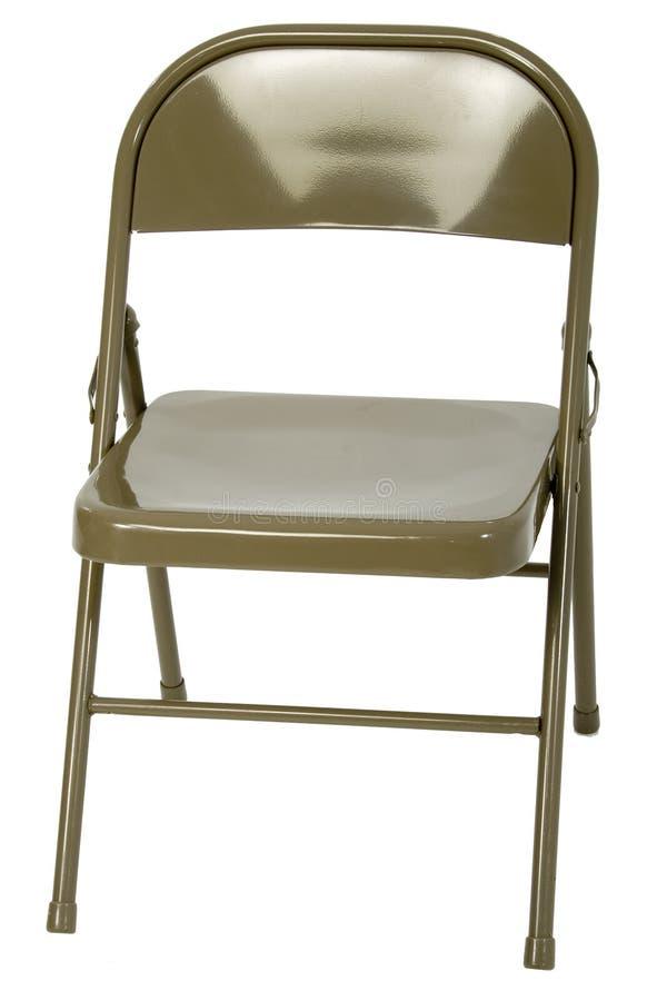 Cadeira de dobradura do metal foto de stock royalty free