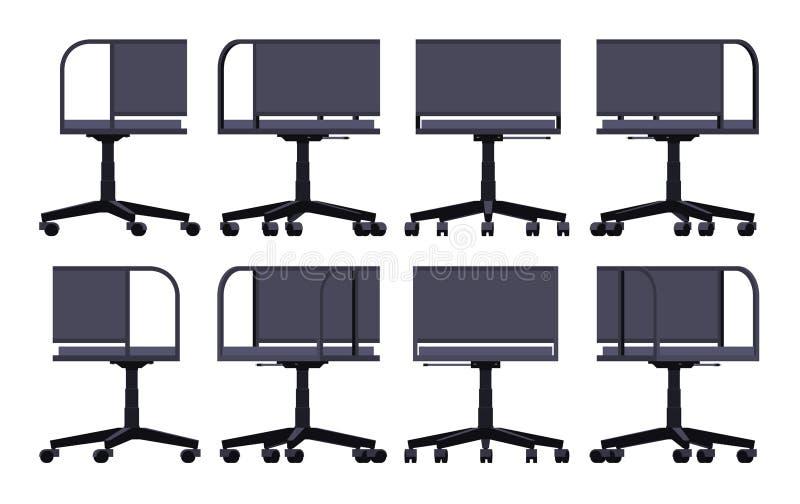 Cadeira de giro do escritório ilustração stock