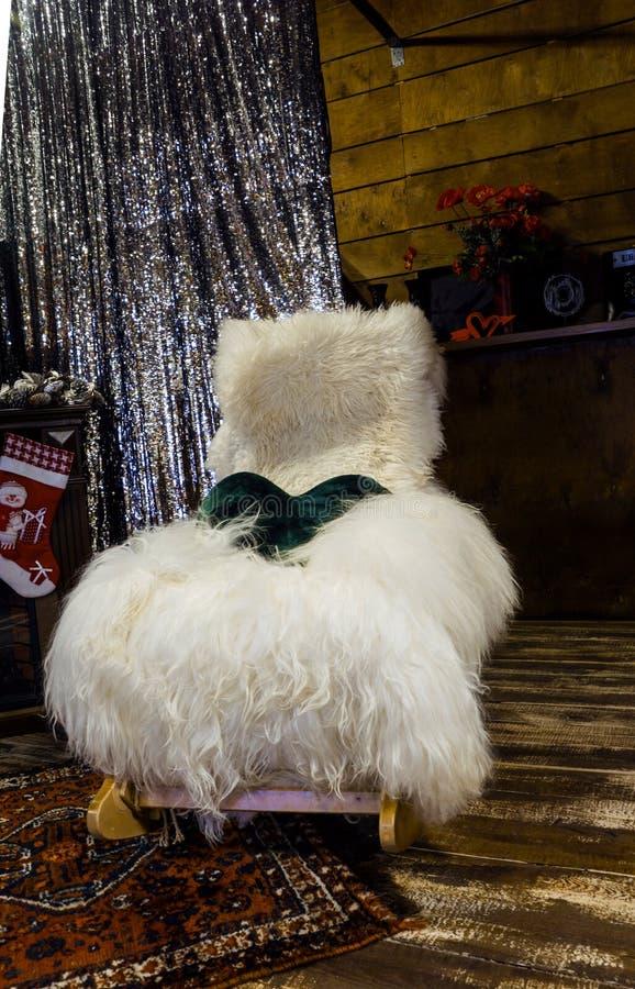 Cadeira de lã macia imagem de stock royalty free