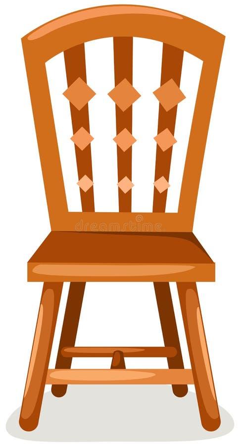Cadeira de madeira ilustração do vetor