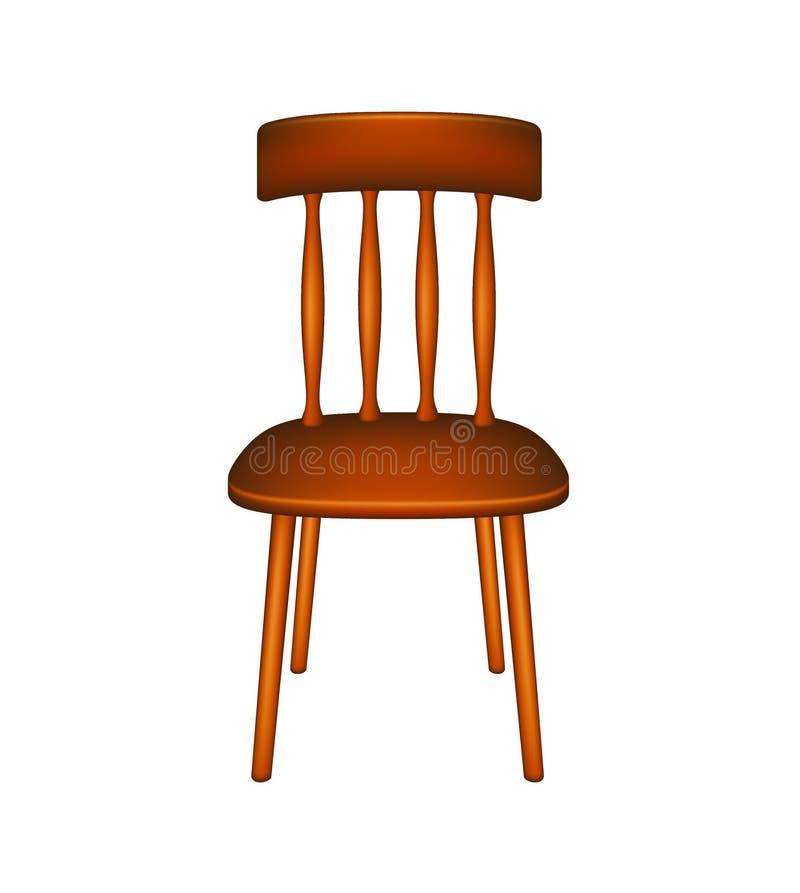 Cadeira de madeira ilustração stock