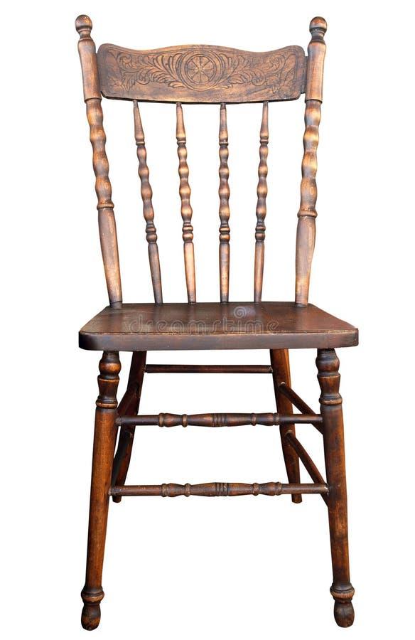 Cadeira de madeira antiga fotografia de stock