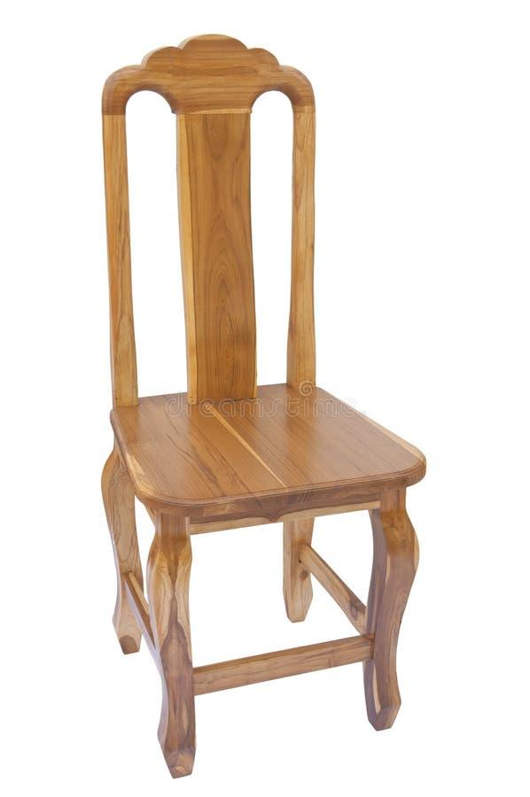 Cadeira de madeira do Teak foto de stock