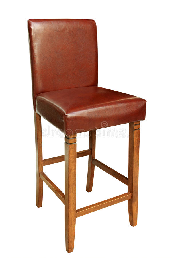 Cadeira de madeira isolada fotografia de stock royalty free