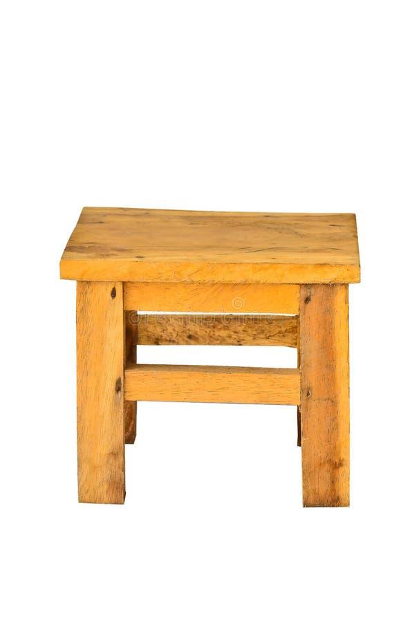 Cadeira de madeira isolada foto de stock