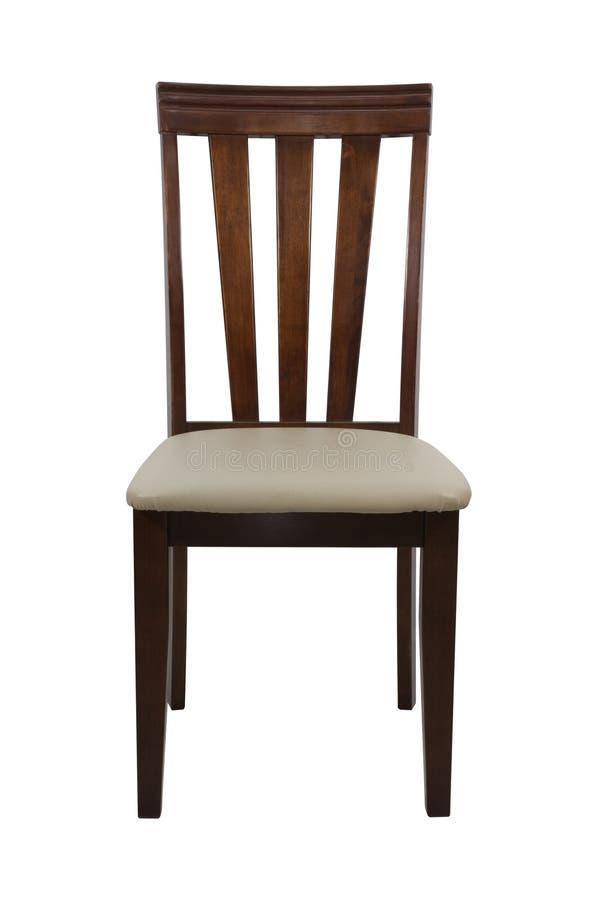 Cadeira de madeira isolada no fundo branco fotos de stock royalty free