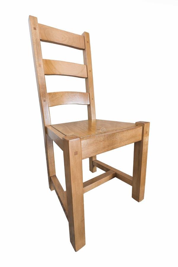Cadeira de madeira no fundo branco fotos de stock