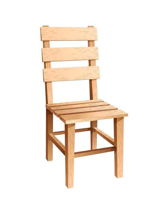 Cadeira de madeira simples ilustração do vetor
