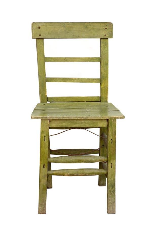 Cadeira de madeira velha foto de stock royalty free