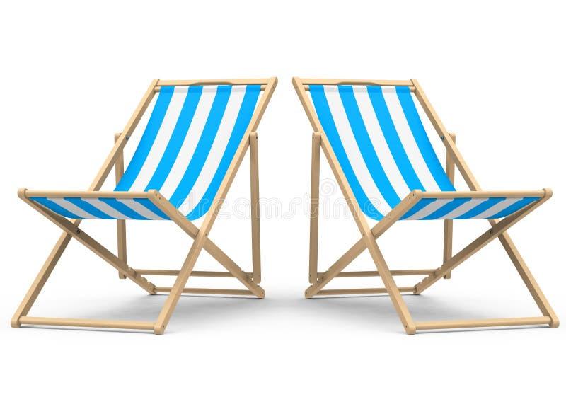 A cadeira de praia ilustração do vetor