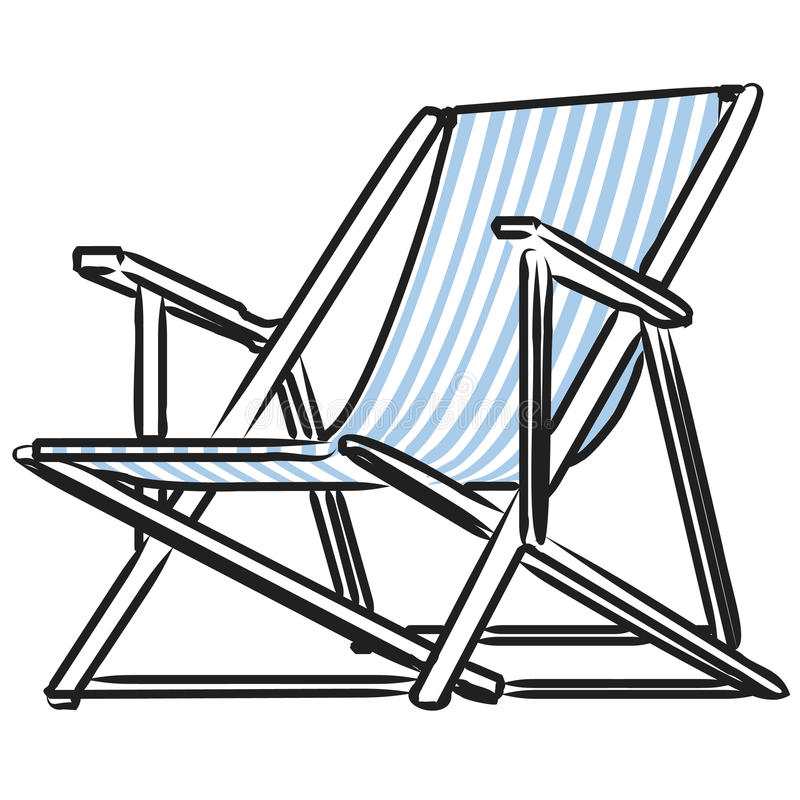 Cadeira de praia + arquivo do EPS do vetor ilustração royalty free