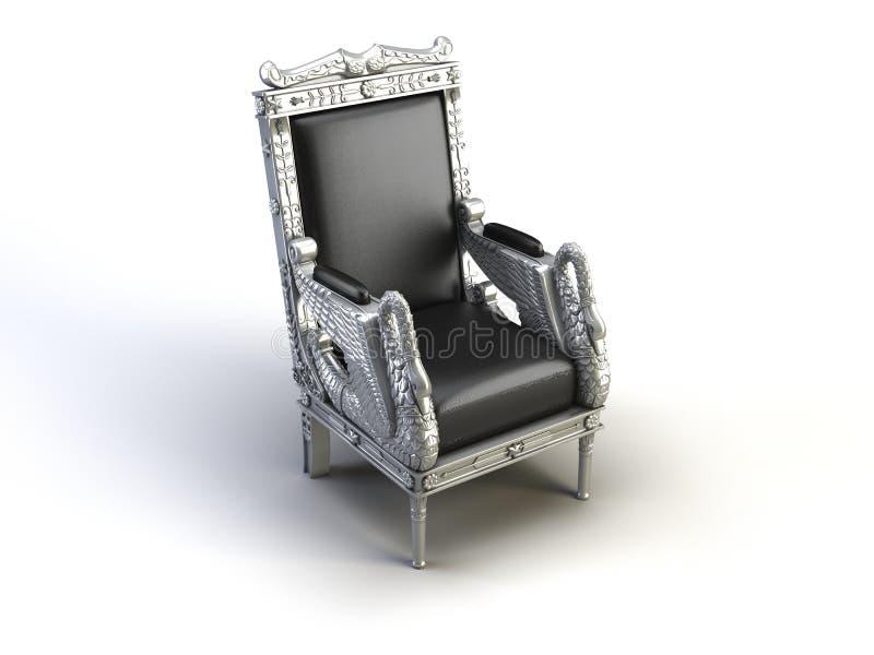 Cadeira de prata ilustração stock