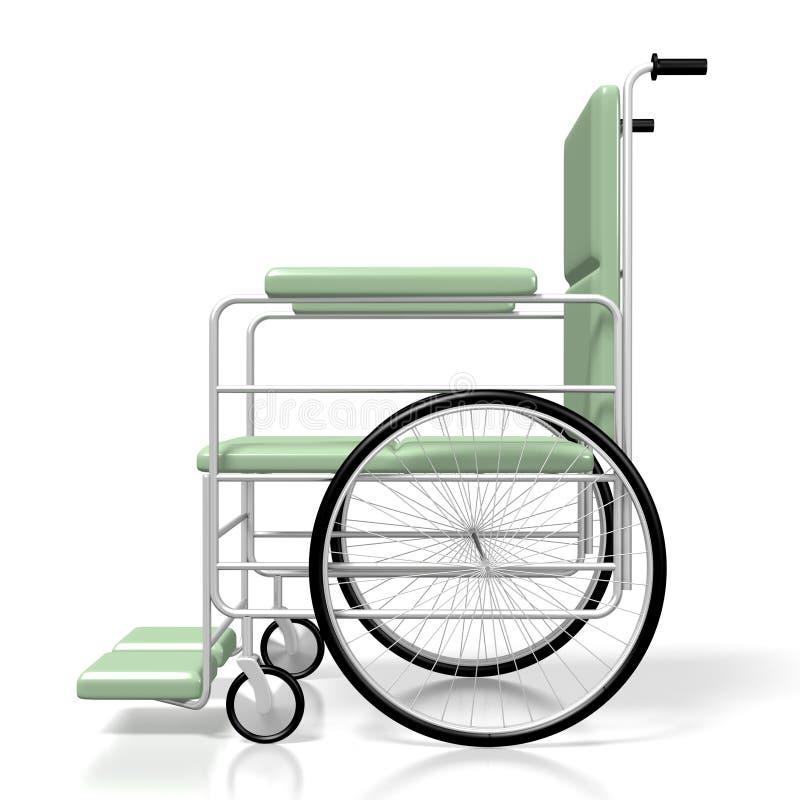 cadeira de rodas 3D no fundo branco ilustração royalty free