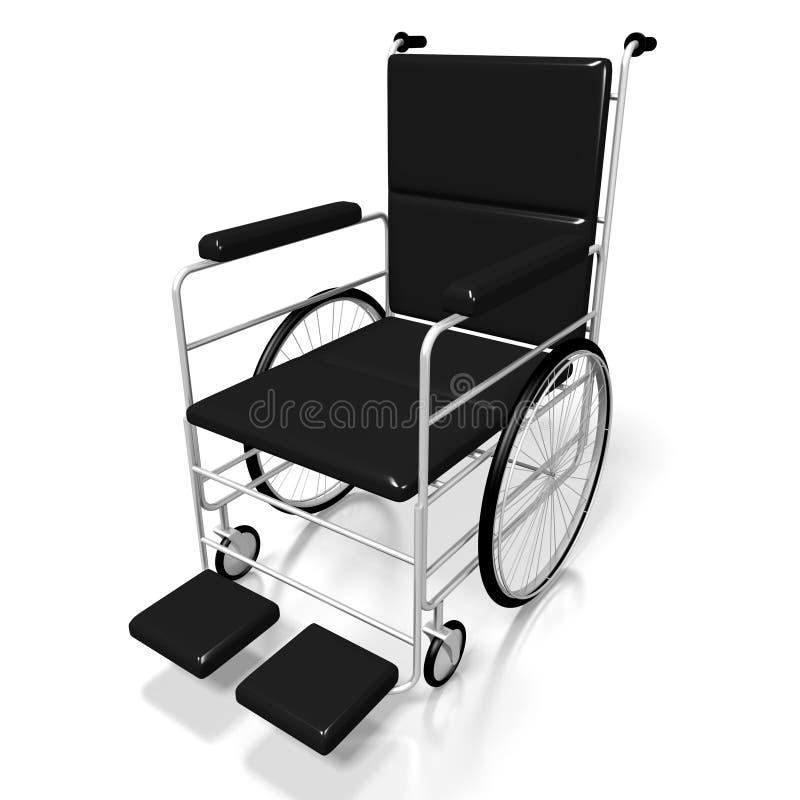 cadeira de rodas 3D no fundo branco ilustração stock
