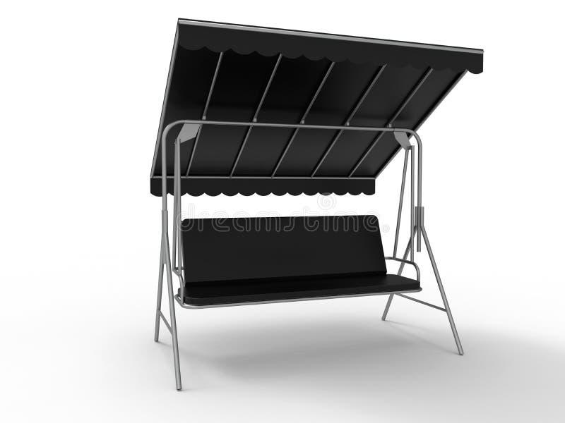 Cadeira de sala de estar do jardim ilustração stock