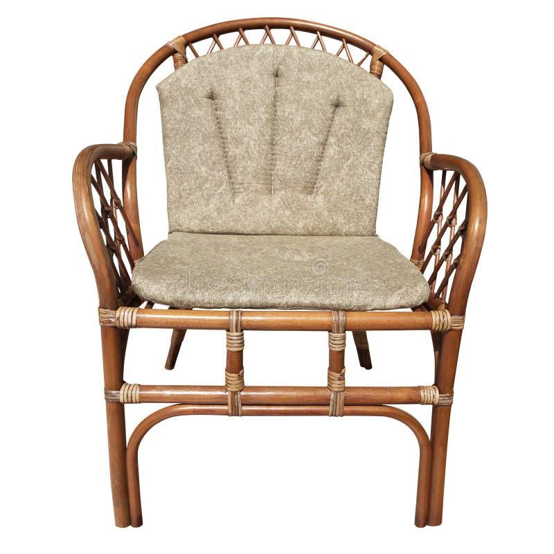 Cadeira de vime fotografia de stock