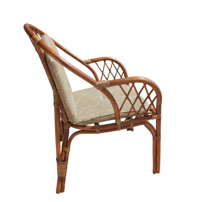 Cadeira de vime imagem de stock