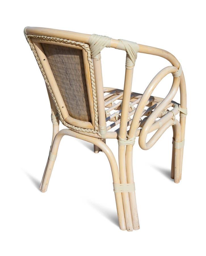Cadeira de vime sobre o branco foto de stock
