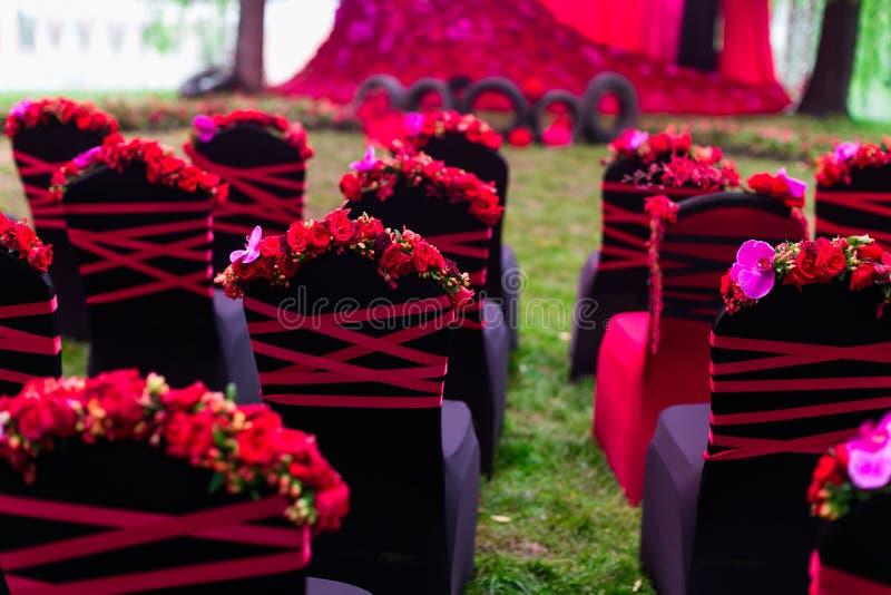 Cadeira do casamento imagem de stock royalty free