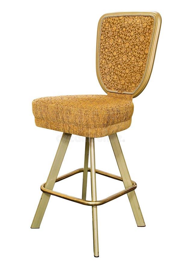Cadeira do casino do ouro fotos de stock