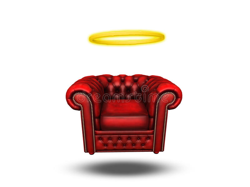 Cadeira do conforto com halo ilustração royalty free