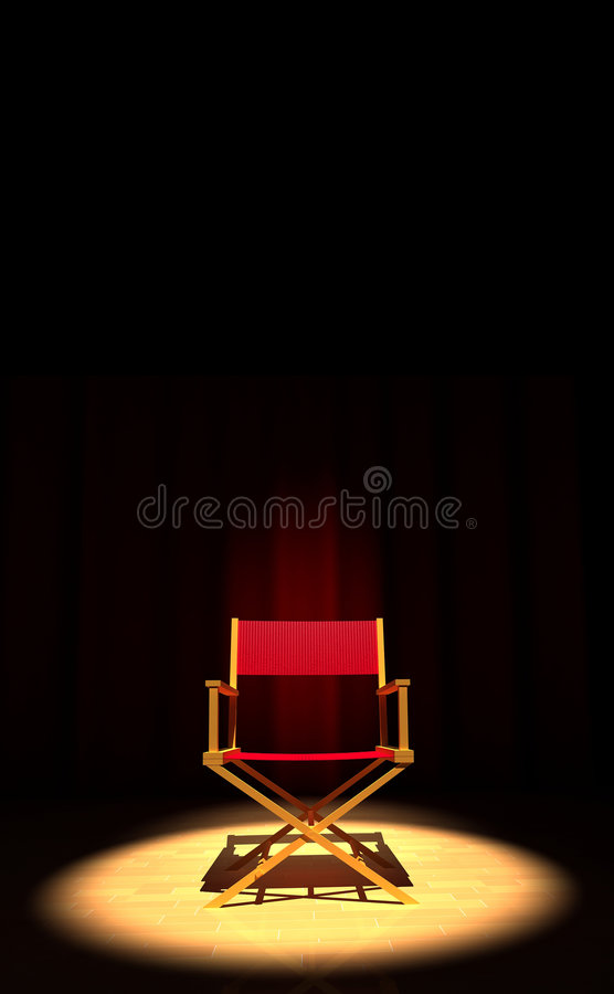 Cadeira do diretor fotos de stock