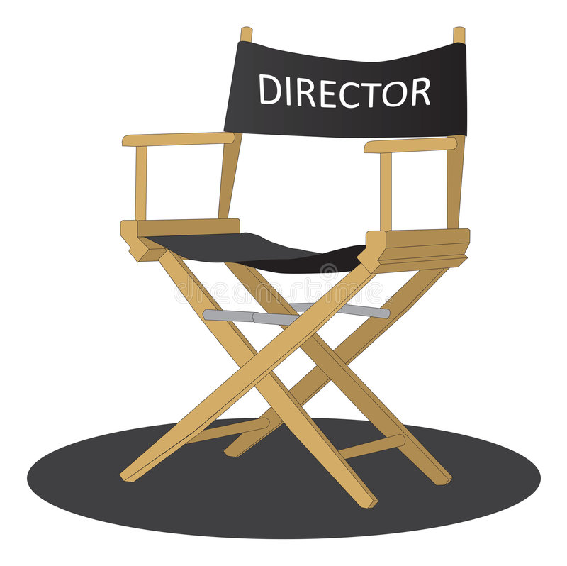 Cadeira do diretor ilustração do vetor