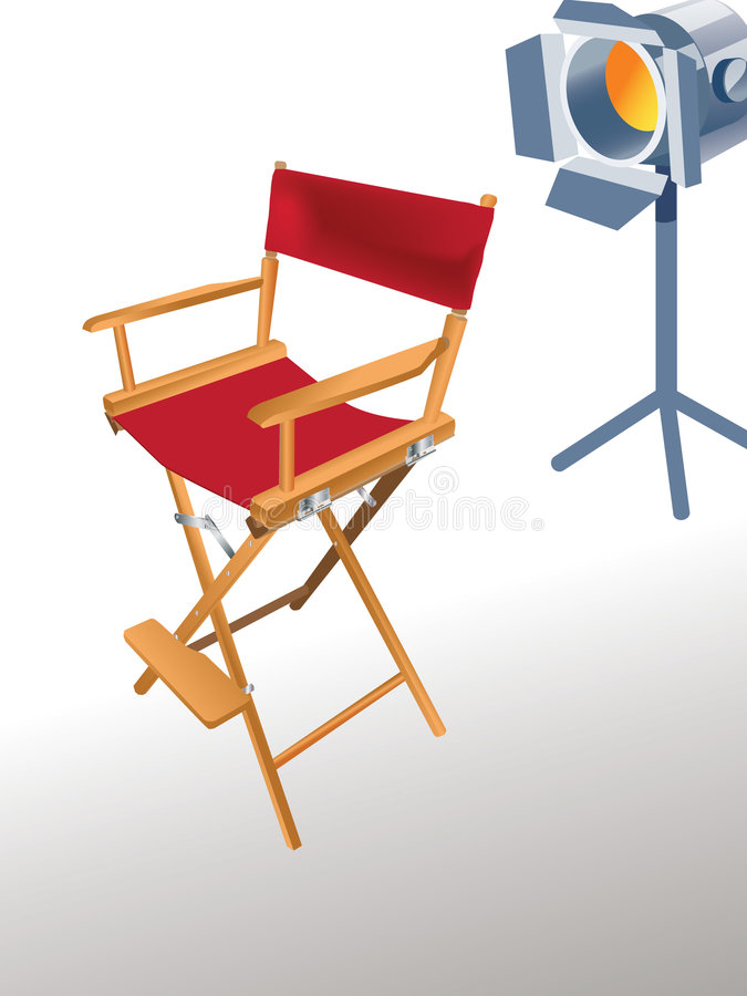 Cadeira do diretor ilustração stock