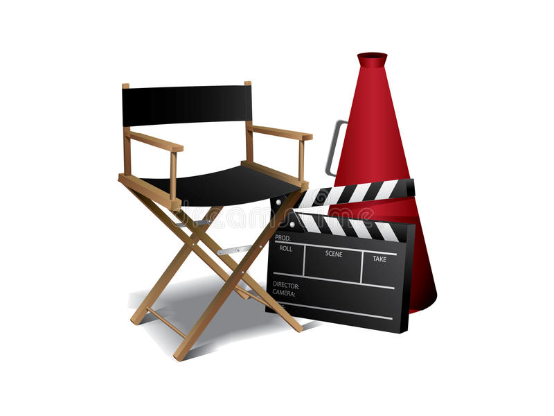 Cadeira do diretor de filme ilustração royalty free