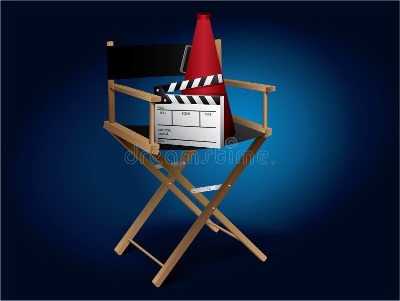 Cadeira do diretor de filme ilustração do vetor