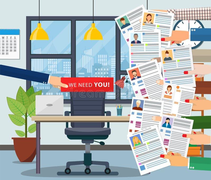 Cadeira do escritório Aluguer e recrutamento ilustração royalty free