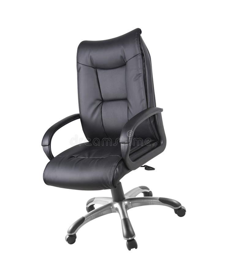Cadeira do escritório isolada no branco imagem de stock