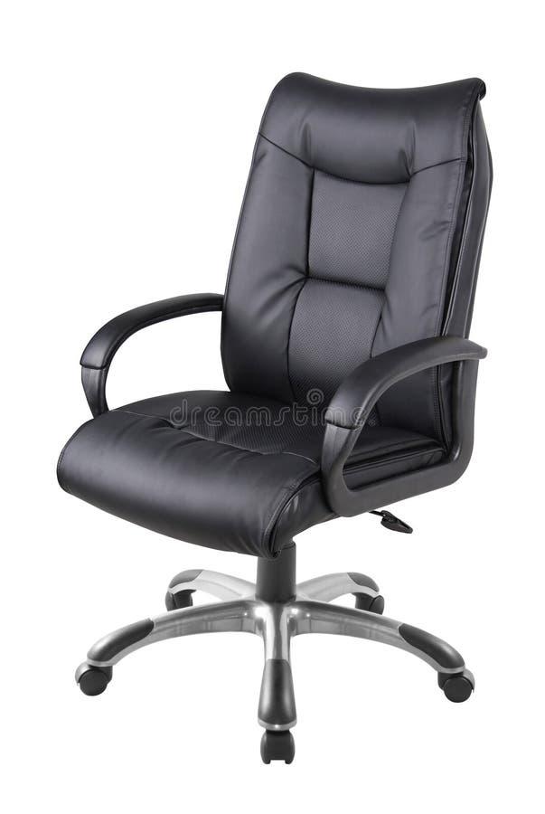 Cadeira do escritório isolada no branco fotografia de stock royalty free