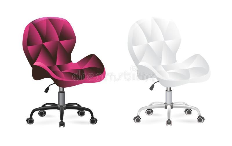 Cadeira do escritório nas rodas ilustração stock
