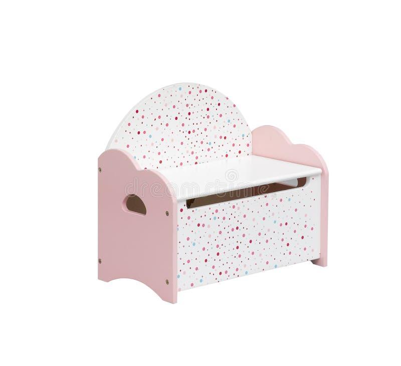 Cadeira do miúdo com caixa de armazenamento fotos de stock