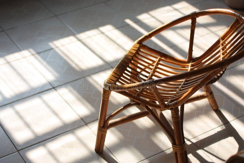 Cadeira do Rattan imagens de stock